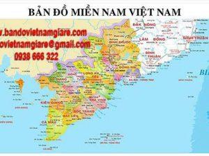 Bản đồ miền Nam Việt Nam khổ lớn