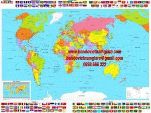 Bản đồ Thế Giới khổ lớn Mẫu 21
