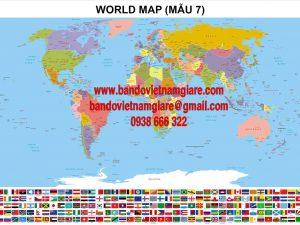 Bản đồ Thế Giới khổ lớn Mẫu 7