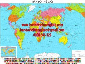 Bản đồ Thế Giới tiếng việt khổ lớn