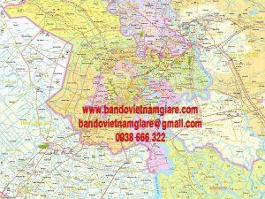 Bản đồ TPHCM và các tỉnh lân cận khổ lớn