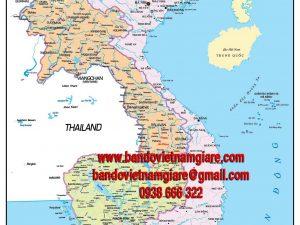 Bản đồ Việt Nam Lào Campuchia khổ lớn mẫu 2
