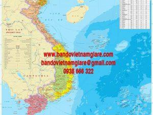 Bản đồ Việt Nam vùng miền khổ lớn