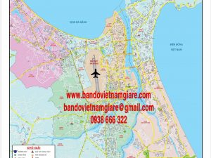 Bản đồ giao thông Đà Nẵng khổ lớn