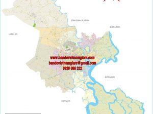 Bản đồ giao thông TPHCM 24 quận huyện khổ lớn