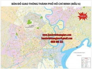 Bản đồ giao thông TPHCM khổ lớn mẫu 6