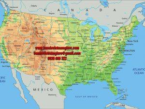 Bản đồ nước Mỹ khổ lớn mẫu 2