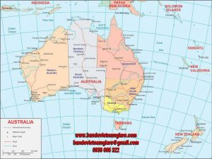 Bản đồ nước Úc khổ lớn mẫu 1
