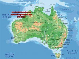 Bản đồ nước Úc khổ lớn mẫu 2