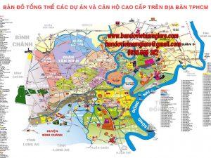 Bản đồ tổng thể các dự án và căn hộ cao cấp trên địa bàn TPHCM