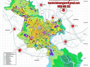 Bán bản đồ quy hoạch TPHCM đến năm 2025 khổ lớn mẫu mới