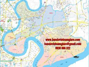 Bản đồ giao thông quận 2 TPHCM khổ lớn