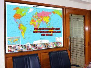Dùng bản đồ Thế Giới treo tường thay thế tranh treo tường