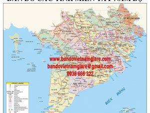 Cửa hàng bán bản đồ khổ lớn trực tuyến giá rẻ tại TPHCM