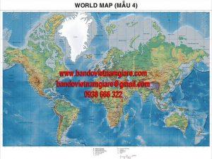 Địa chỉ bán bản đồ Thế Giới khổ lớn uy tín tại TPHCM