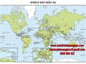 In bản đồ Thế Giới khổ lớn giá rẻ giao hàng tận nơi