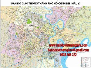 Bán bản đồ giao thông TPHCM khổ lớn chi tiết mới nhất