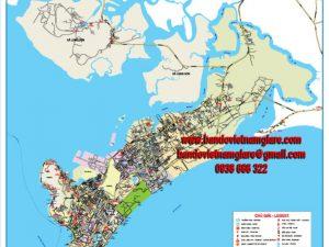 bản đồ giao thông thành phố vũng tàu khổ lớn
