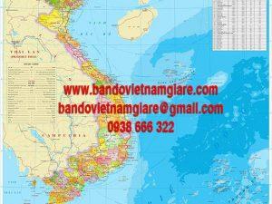 Bản đồ Việt Nam khổ lớn giá rẻ chính xác từng chi tiết