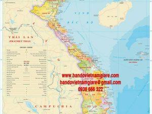 Bản đồ Việt Nam khổ lớn mẫu 12