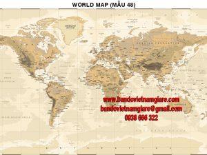 Bản đồ Thế Giới khổ lớn mẫu 48