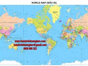 Bản đồ Thế Giới khổ lớn mẫu 50