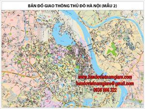 Bán bản đồ giao thông Hà Nội khổ lớn mới nhất