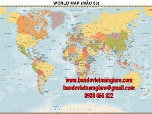 Bản đồ Thế Giới khổ lớn mẫu 58
