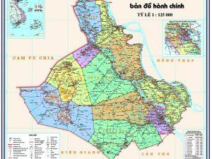 bản đồ các huyện của tỉnh An giang