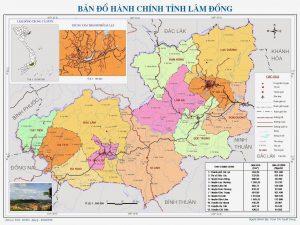 Bản đồ tỉnh Lâm Đồng