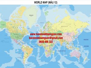 Bản đồ Thế Giới khổ lớn Mẫu 12