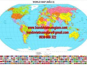 Bản đồ Thế Giới khổ lớn Mẫu 2