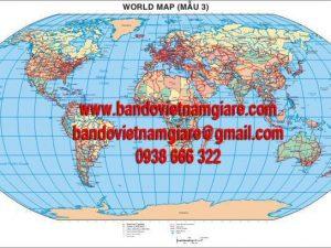 Bản đồ Thế Giới khổ lớn mẫu 3