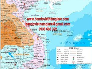 Bản đồ Việt Nam khổ lớn mẫu 10