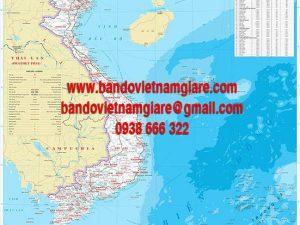 Bản đồ Việt Nam khổ lớn mẫu 8