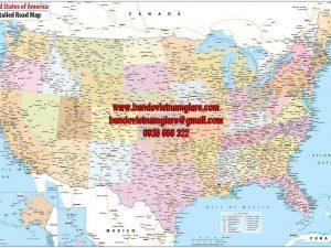 Bản đồ giao thông nước Mỹ khổ lớn