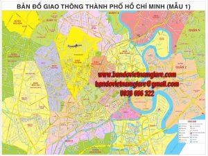 Bản đồ giao thông TPHCM khổ lớn mẫu 1
