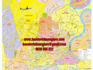 Bản đồ giao thông TPHCM khổ lớn mẫu 2