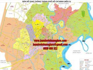 Bản đồ giao thông TPHCM khổ lớn mẫu 3