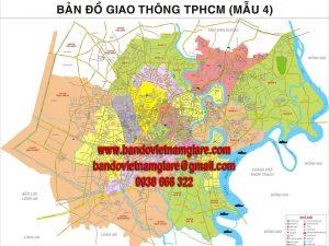 Bản đồ giao thông TPHCM khổ lớn mẫu 4