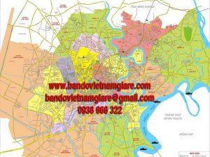 Bản đồ giao thông TPHCM khổ lớn mẫu 5