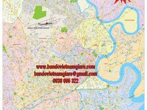 Bản đồ giao thông TPHCM khổ lớn mẫu 7