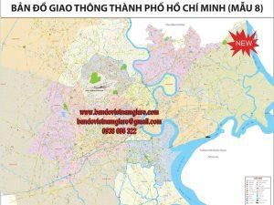 Bản đồ giao thông TPHCM khổ lớn mẫu 8