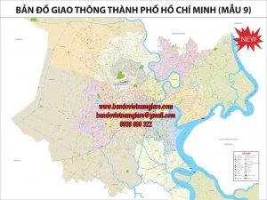 Bản đồ giao thông TPHCM khổ lớn mẫu 9