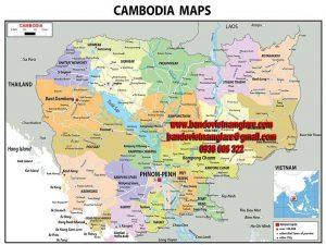 Bản đồ nước Campuchia khổ lớn