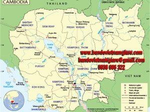 Bản đồ nước Campuchia khổ lớn mẫu 2