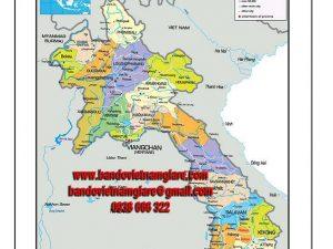 Bản đồ nước Lào khổ lớn
