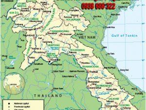 Bản đồ nước Lào khổ lớn mẫu 2