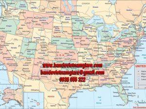 Bản đồ nước Mỹ khổ lớn mẫu 1