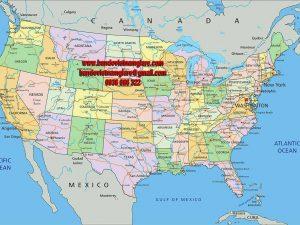 Bản đồ nước Mỹ khổ lớn mẫu 3